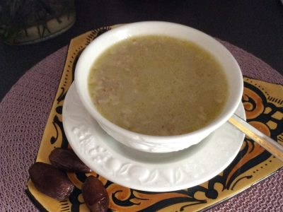 Havervlokken soep..
