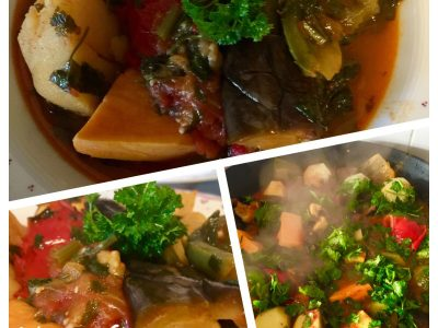 Vegetarische groente stoofpot