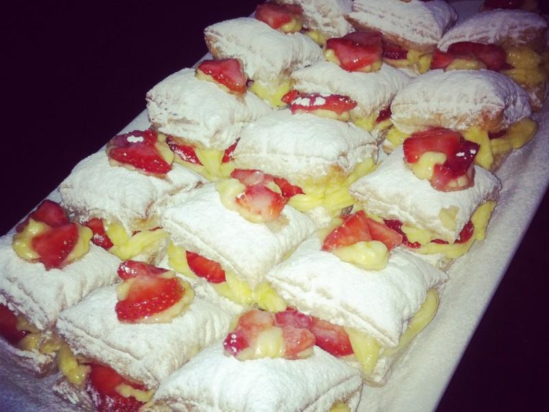 Bladerdeeg gebak