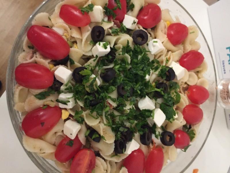 Tonijn pastasalade