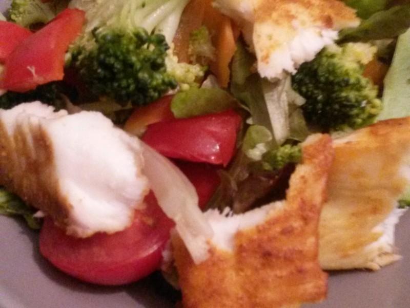 Maaltijdsalade met Broccoli en Tilapia filet