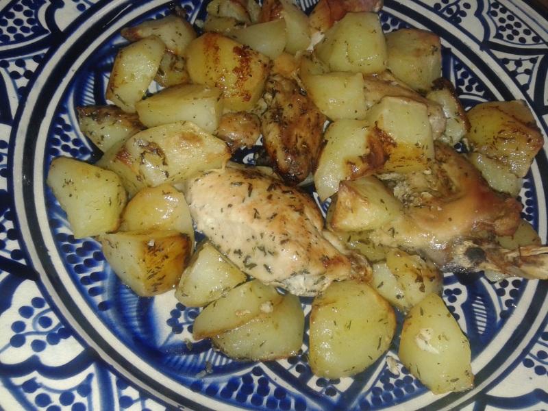 Griekse kio met aardappelen en citroen