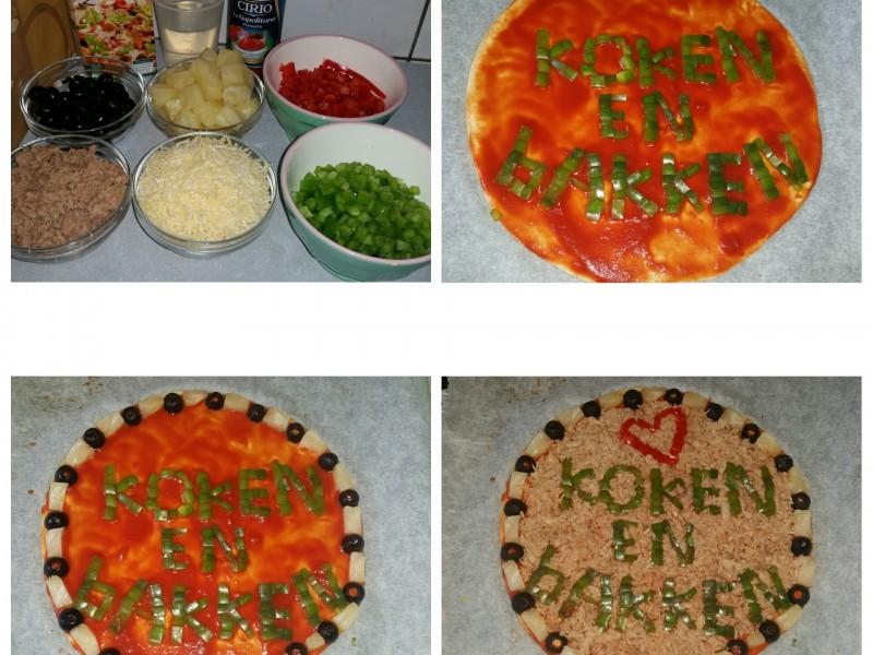 Pizza 'koken en bakken'