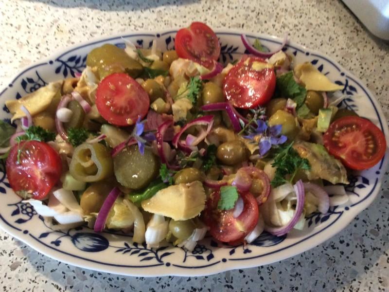 Gemengde Witlof salade met een citroenen dressing