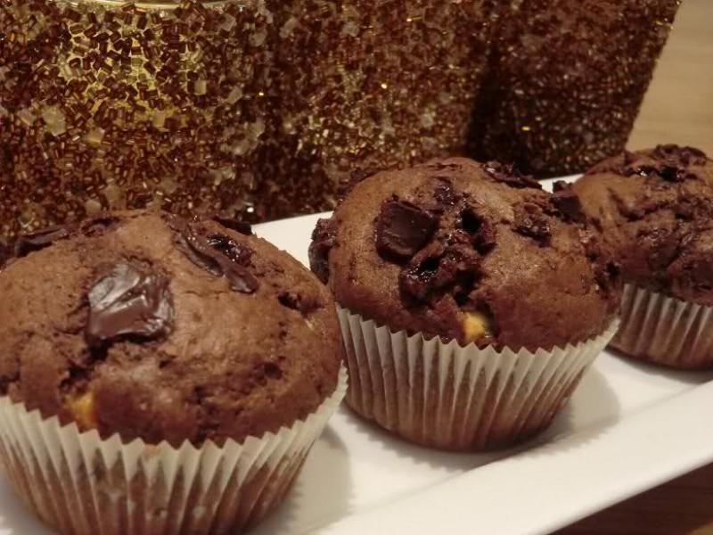 Triple chocolade muffins
