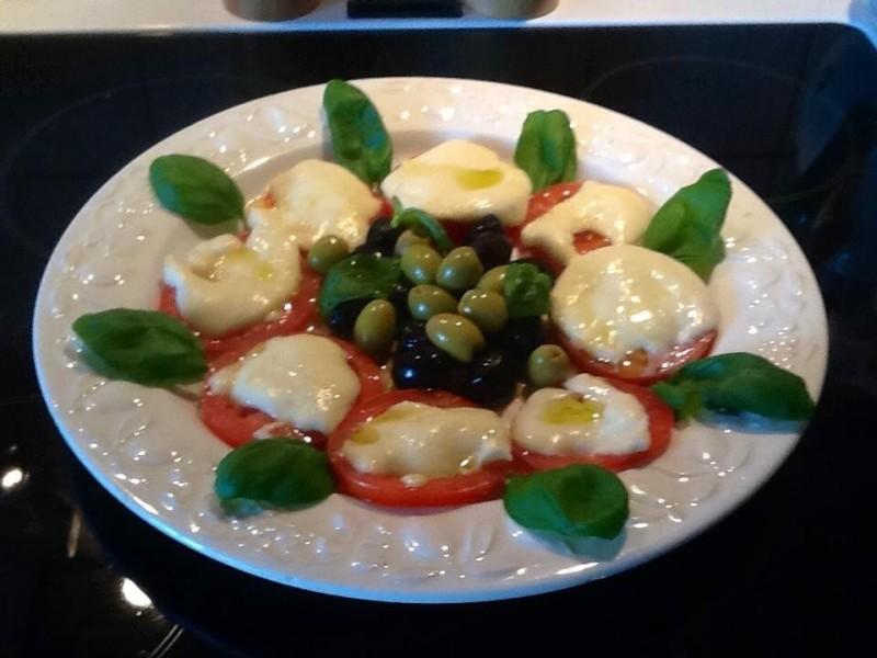 Tomaten met mozzarella