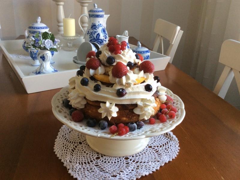 kwark-fruit taartje