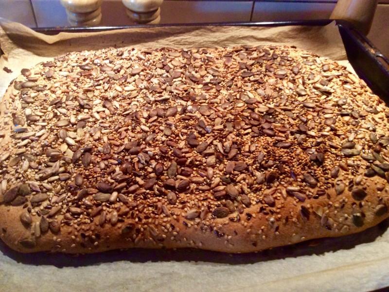 Platte zaden brood.