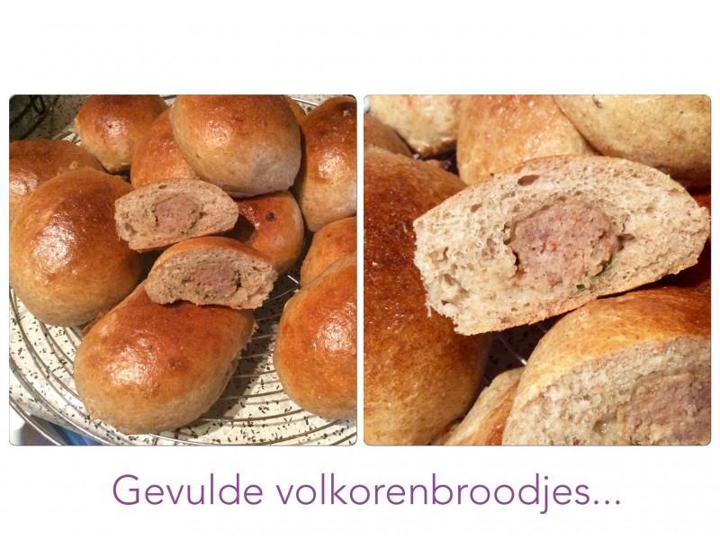 Gevulde volkoren broodjes