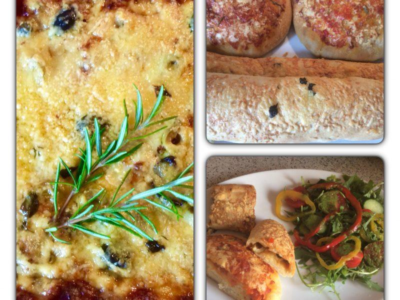 Pizza broodjes met verschillende vullingen