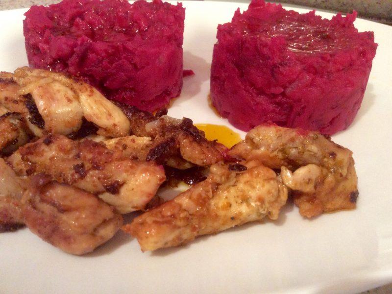 Rode bieten/ aardappelpuree