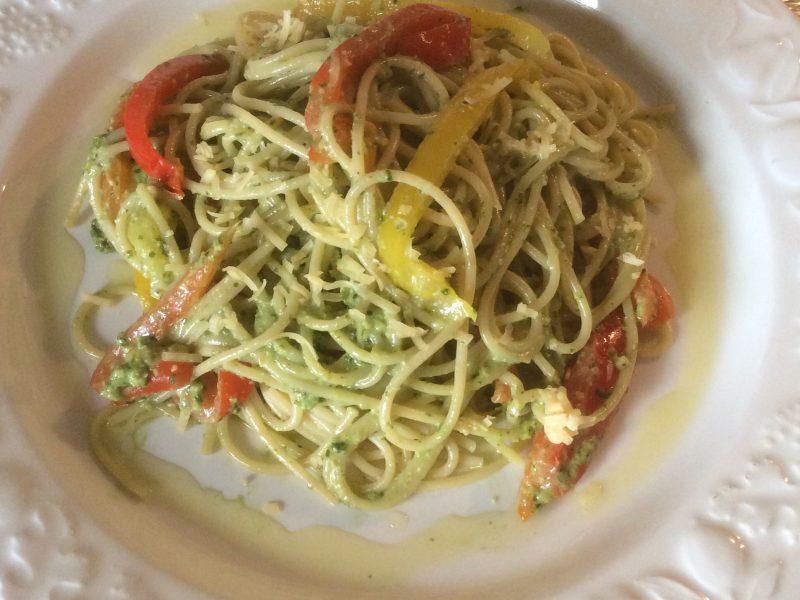 Spaghetti met pesto