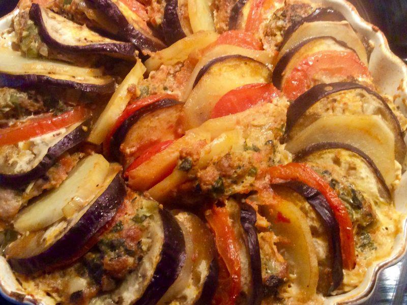 Aubergine ovenschotel