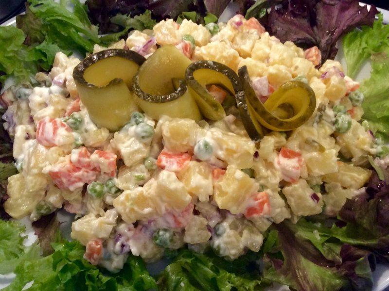 Aardappel groente salade