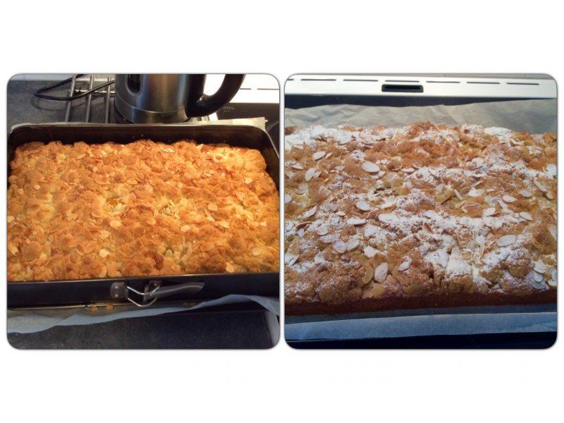 Nectarine kruimel cake…