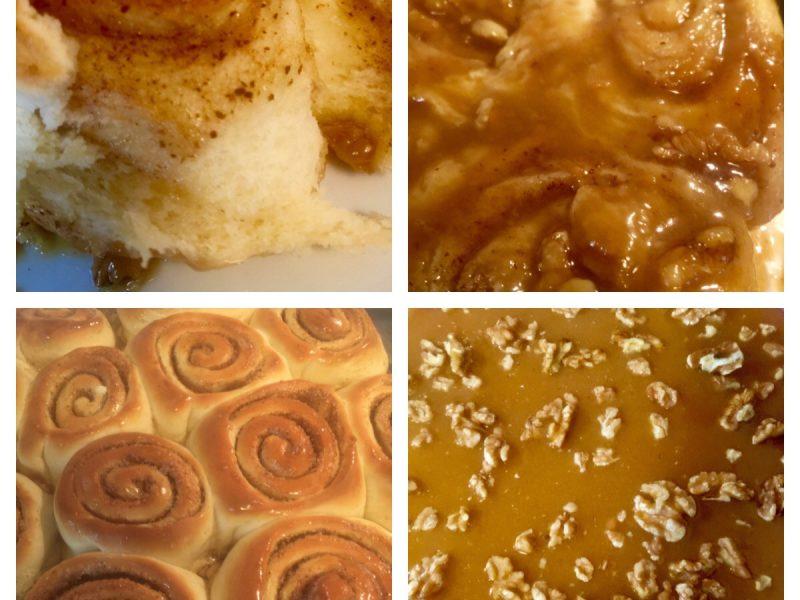Karamel walnoten cinnamon rolls