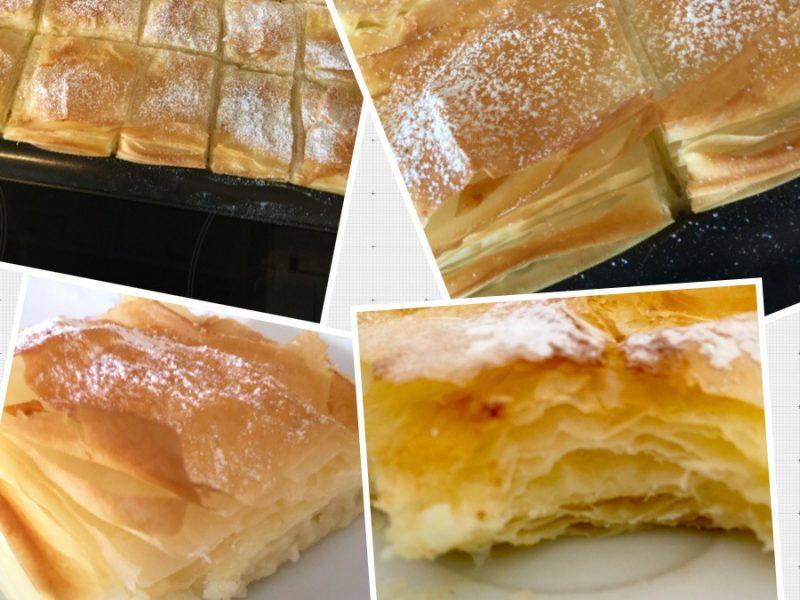 Börek gevuld met een Sinaasappel/ kokos  crème