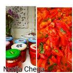 Paprika slices voor bruchetta